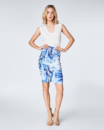 Nicole Miller Faux Metal Sandy Skirt
