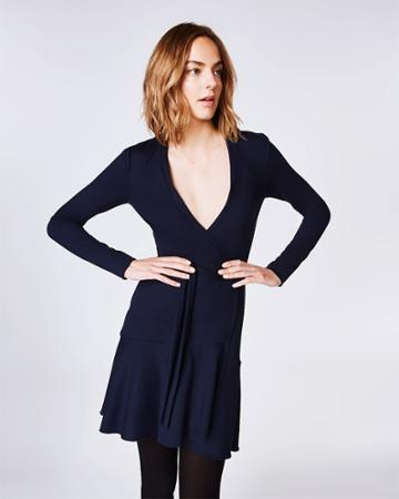 Nicole Miller Ponte Wrap Dress