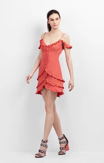 Nicole Miller Stella Ruffle Dress