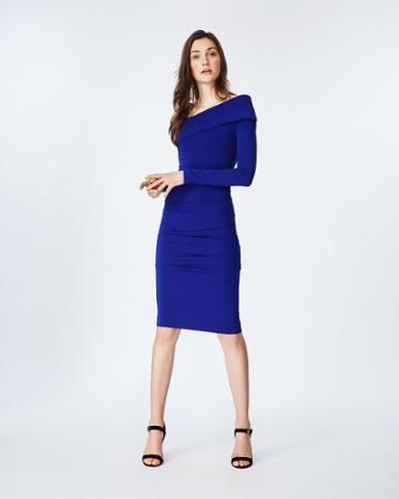 Nicole Miller Jersey Off The Shoulder Dress