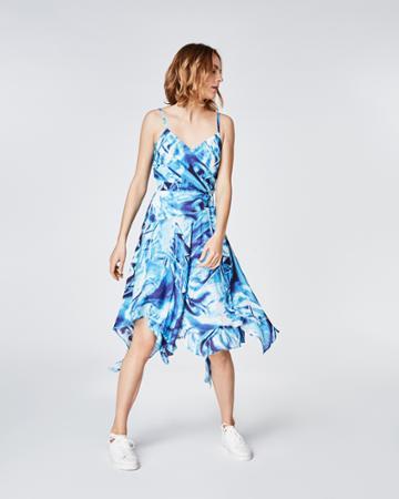 Nicole Miller Faux Crush Wrap Dress