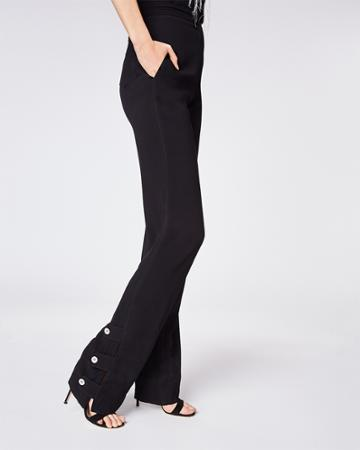 Nicole Miller Crinkle Satin High Waisted Pants
