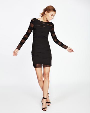 Nicole Miller Laser Cut V-back Dress