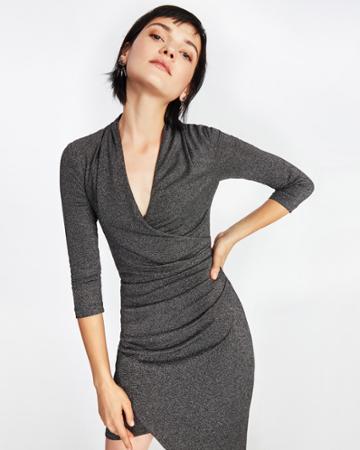 Nicole Miller Glitz Asymmetric Dress