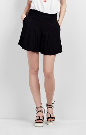 Nicole Miller Pleated Shorts