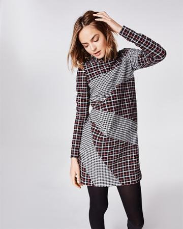 Nicole Miller Reverse Plaid Dress
