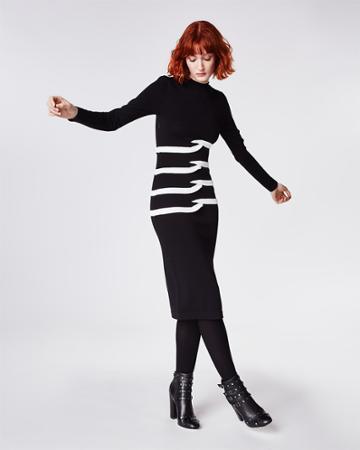 Nicole Miller Tidal Pleat Midi Dress