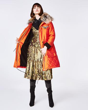Nicole Miller Quilted Puffer Coat