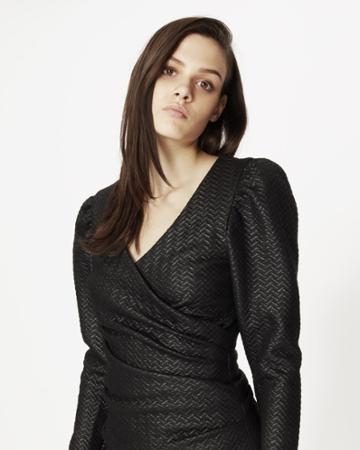 Nicole Miller Zig Zag Logan Top