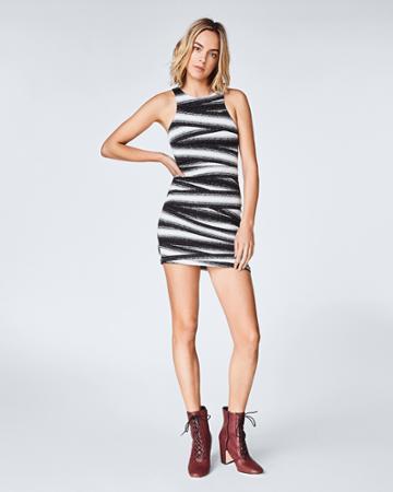 Nicole Miller Bandage Stripe Mini Dress