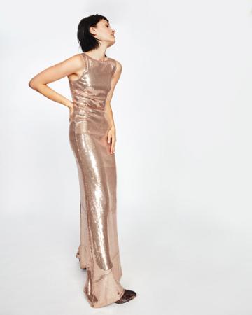 Nicole Miller Boatneck Sequin Gown