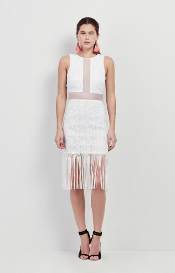Nicole Miller Fringe Mola Dress