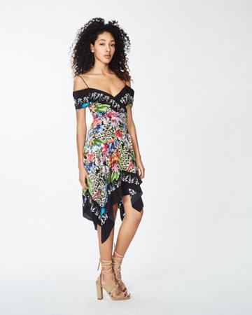 Nicole Miller Amazon Scarf Dress