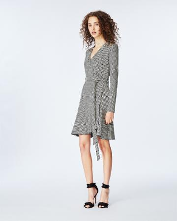 Nicole Miller Geometric Knit Wrap Dress