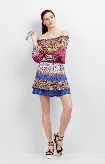 Nicole Miller Cleo Smocked Dress