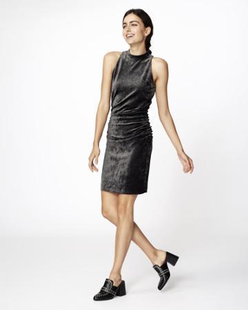 Nicole Miller Velvet Mock Neck Dress