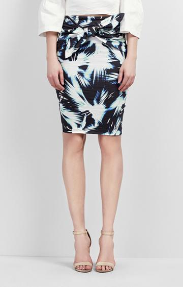 Nicole Miller Brandi Fan Burst Dress
