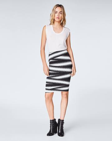Nicole Miller Bandage Stripe Skirt
