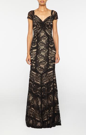 Nicole Miller Loren Stretch Lace Gown