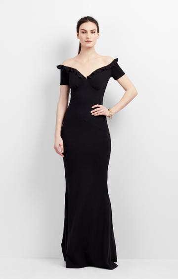 Nicole Miller Audrey Ruffle Gown