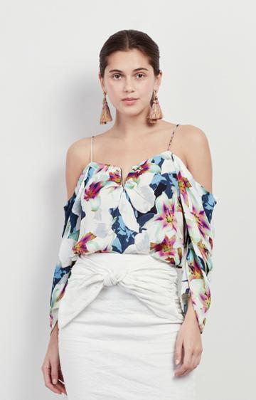 Nicole Miller Spring Chambray Schuler Top