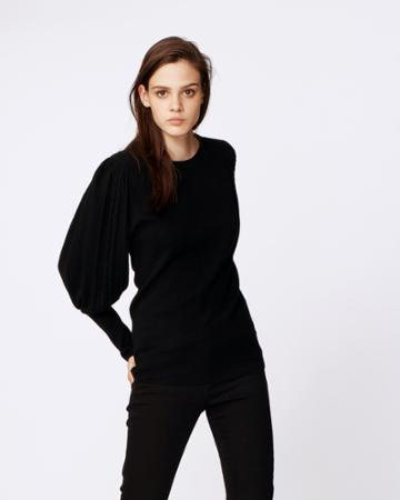 Nicole Miller Puff Sleeve Sweater