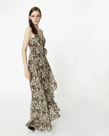 Nicole Miller Leopard Maxi Dress
