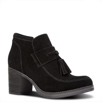 Nine West Nine West Ellison Tassel Booties, Black Suede