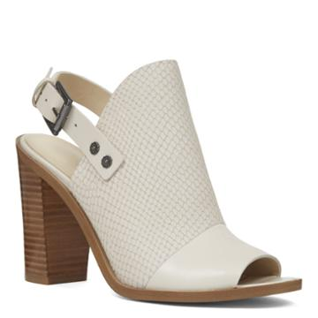 Nine West Nine West Pickens Peep Toe Dress Booties, Off White/ White Nubuck