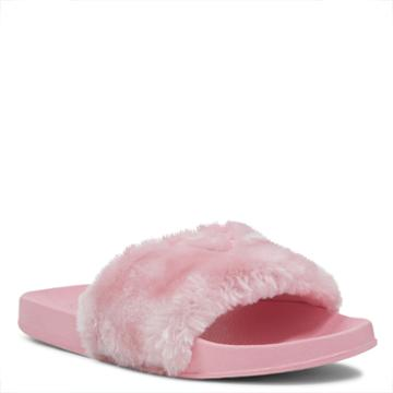 Nine West Nine West Brennens Slides With Heart Embroi, Pink Synthetic
