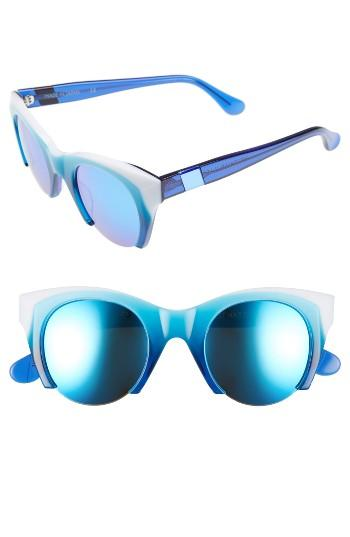Women's Westward Leaning Lost On Paradise 47mm Sunglasses - Shark Attack/ Violet