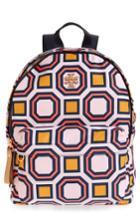 Tory Burch Print Nylon Backpack - Pink