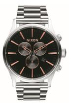 Women's Nixon 'sentry' Chronograph Bracelet Watch, 42mm