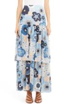 Women's Chloe Floral Print Tiered Maxi Skirt