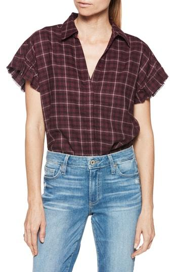 Women's Paige Jaylin Plaid Shirt - Red