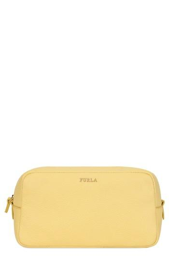Furla Bloom Extra Large Leather Cosmetic Case, Size - Cedro