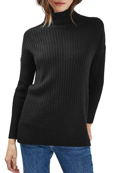 Women's Topshop Oversized Funnel Neck Sweater