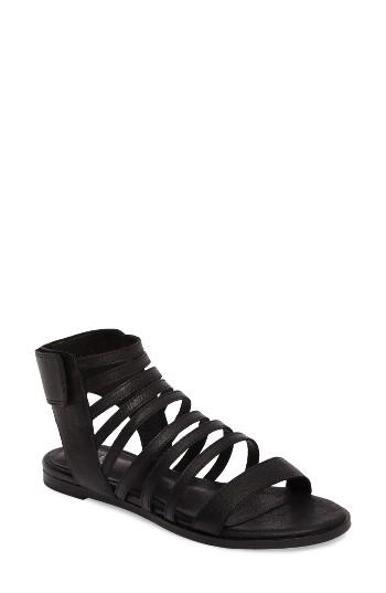 Women's Eileen Fisher Otto Strappy Sandal M - Black
