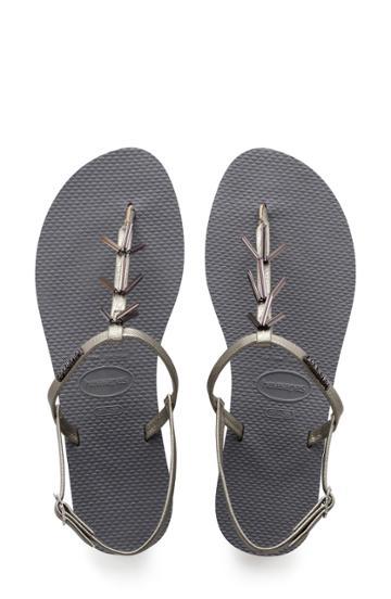 Women's Havaianas You Riviera Embellished Sandal /38 Br - Grey