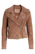 Women's Blanknyc Morning Suede Moto Jacket, Size - Brown