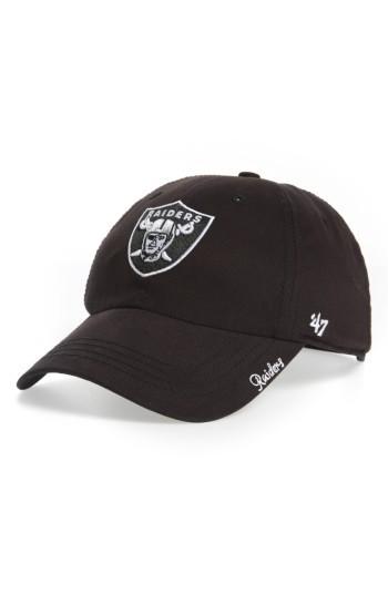 Women's '47 Miata Clean Up Oakland Raiders Ball Cap - Black