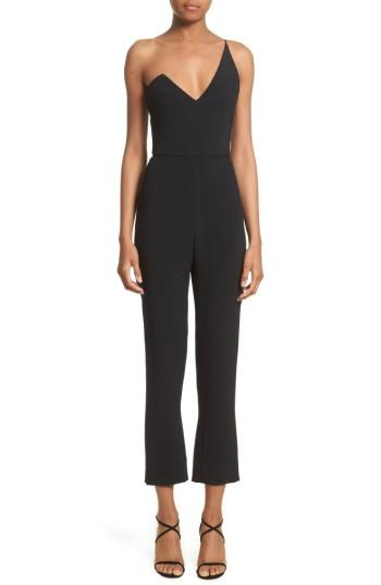 Women's Cushnie Et Ochs One-shoulder Jumpsuit - Black