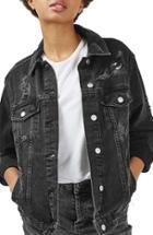 Women's Topshop Moto Ripped Oversize Denim Jacket