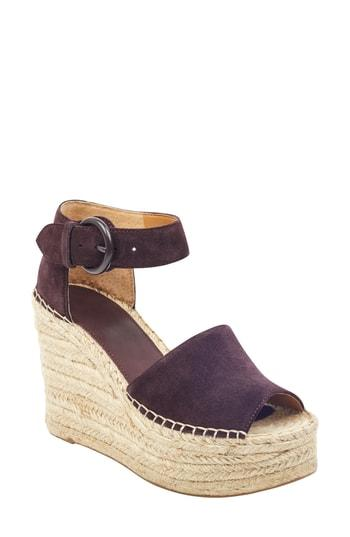 Women's Marc Fisher Ltd Alida Espadrille Platform Wedge .5 M - Brown