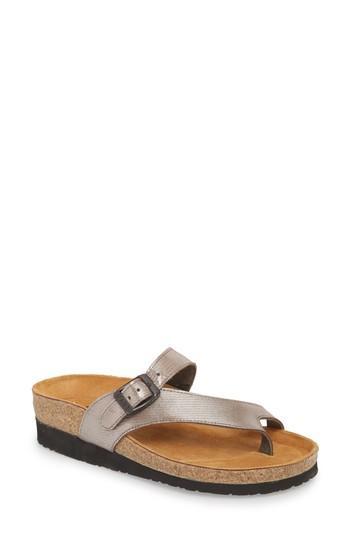 Women's Naot 'tahoe' Sandal Us / 36eu - Metallic