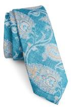 Men's Nordstrom Men's Shop Bradford Paisley Skinny Tie, Size - Red