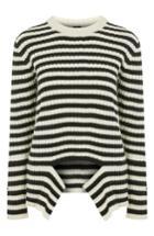 Women's Topshop Boutique Stripe Sweater Us (fits Like 0) - Black