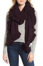 Women's Rebecca Minkoff Ruffle Muffler, Size - Purple