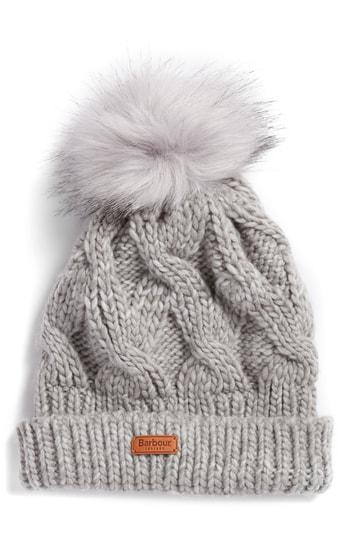 Women's Barbour Bridport Pom Beanie - Grey
