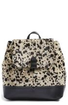 Topshop Genuine Calf Hair & Calfskin Leather Backpack -